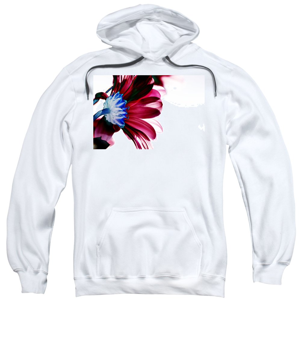 Red Sweatshirt featuring the digital art Red Flower by Carol Lynch