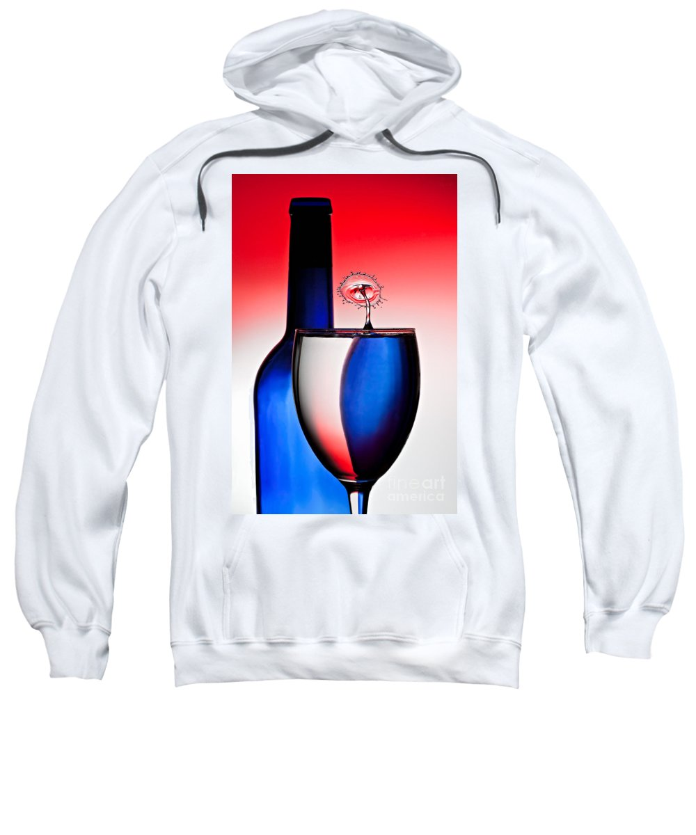 Water Sweatshirt featuring the photograph Red White And Blue Reflections And Refractions by Susan Candelario