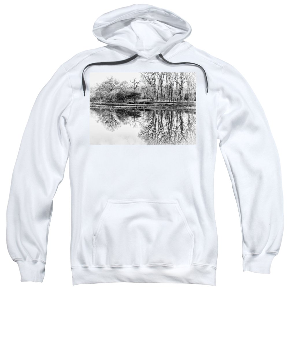 Landscape Sweatshirt featuring the photograph Reflection In Black And White by Julie Palencia