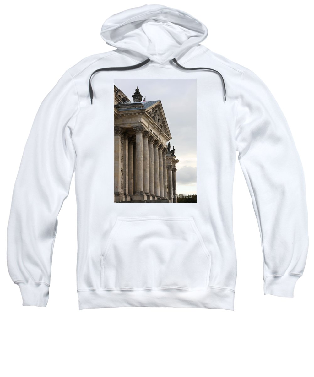 Reichstag Sweatshirt featuring the photograph Reichstag Pillars by Christiane Schulze Art And Photography