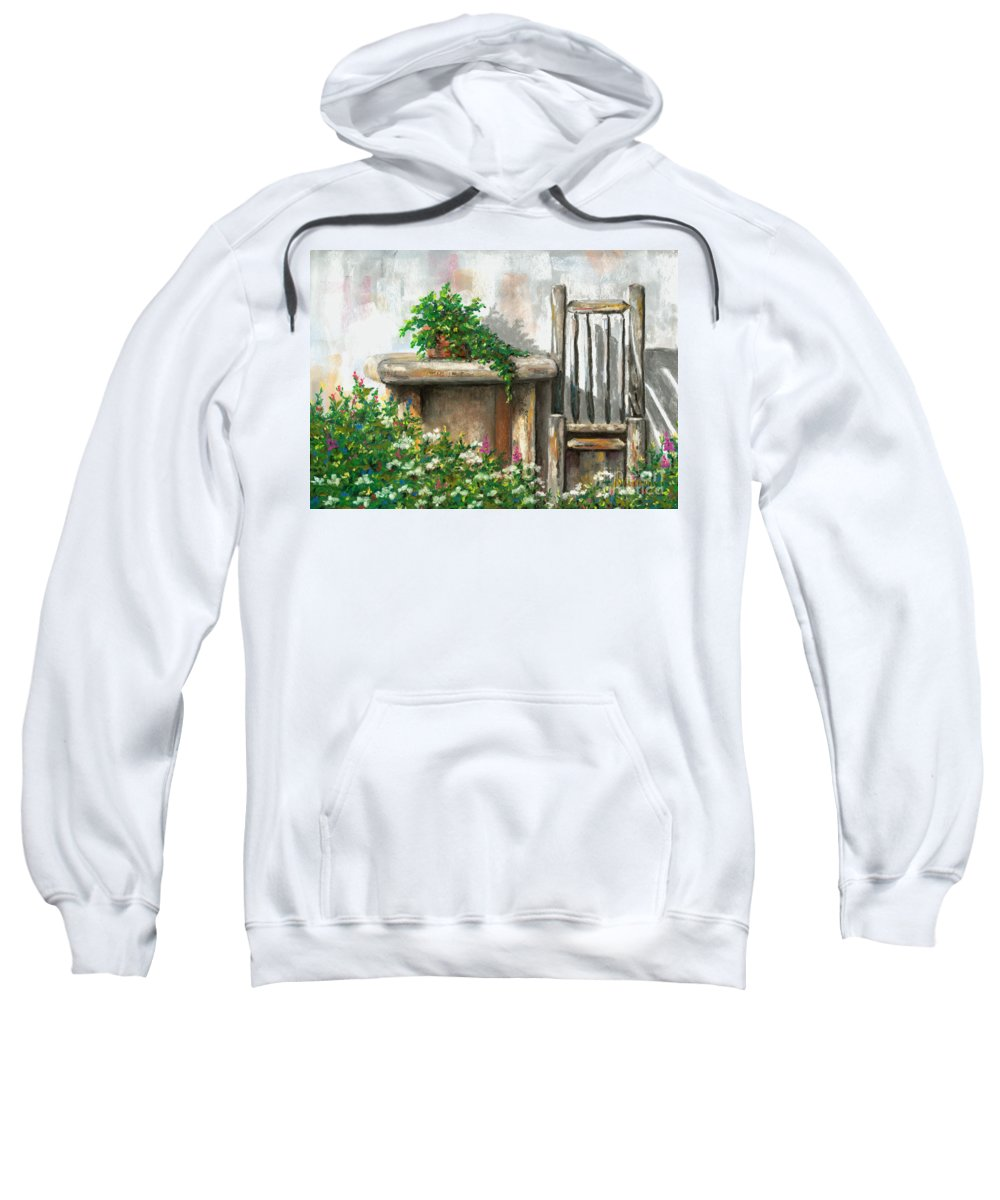 Rustic Sweatshirt featuring the pastel Relax by Jennifer Hammer