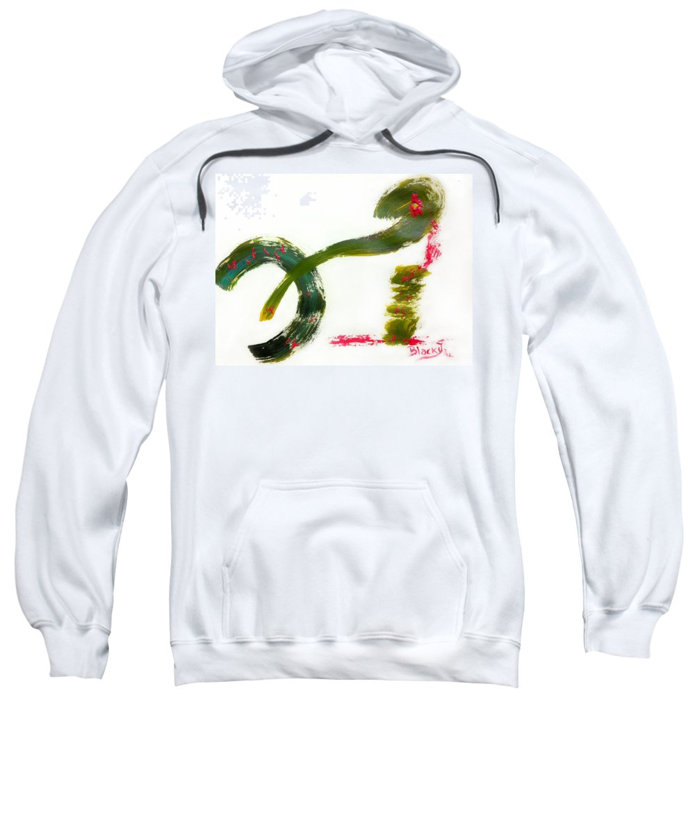 Bold Abstract Sweatshirt featuring the painting Release Yourself by Donna Blackhall