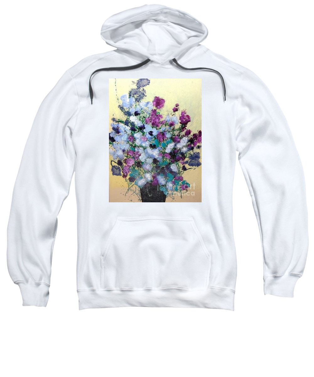 Landscape Sweatshirt featuring the painting Remembering When by Allan P Friedlander