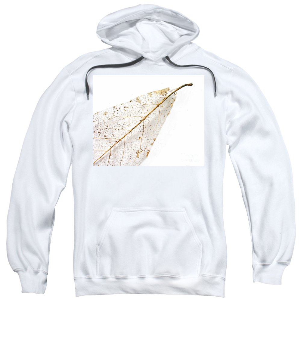 Leaf Sweatshirt featuring the photograph Remnant Leaf by Ann Horn
