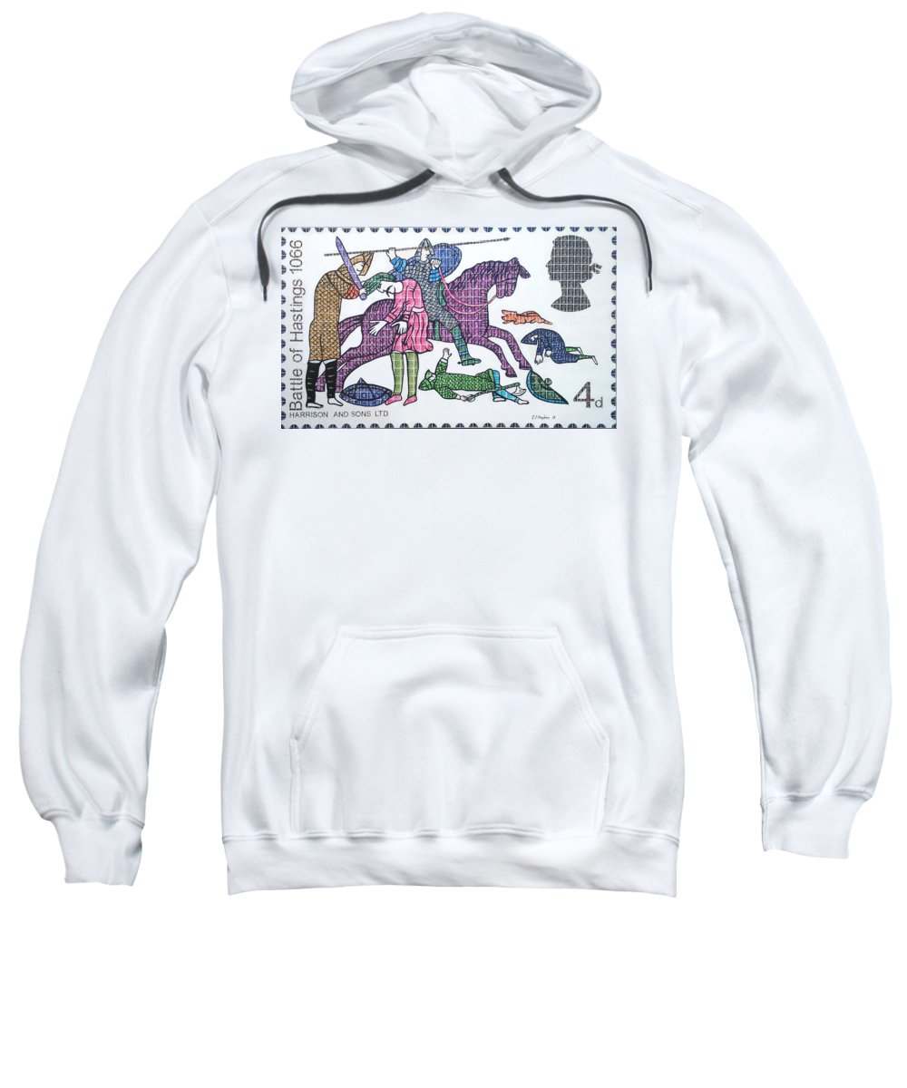 Hastings Sweatshirt featuring the painting Richard's Realm by Gary Hogben