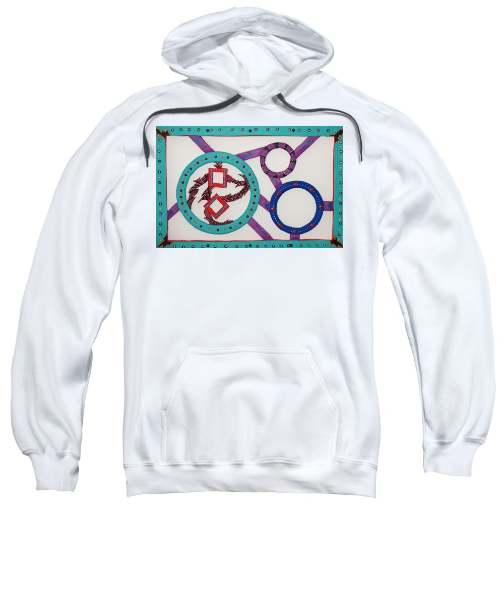 Nature Sweatshirt featuring the sculpture Ring Of Fire by Robert Margetts