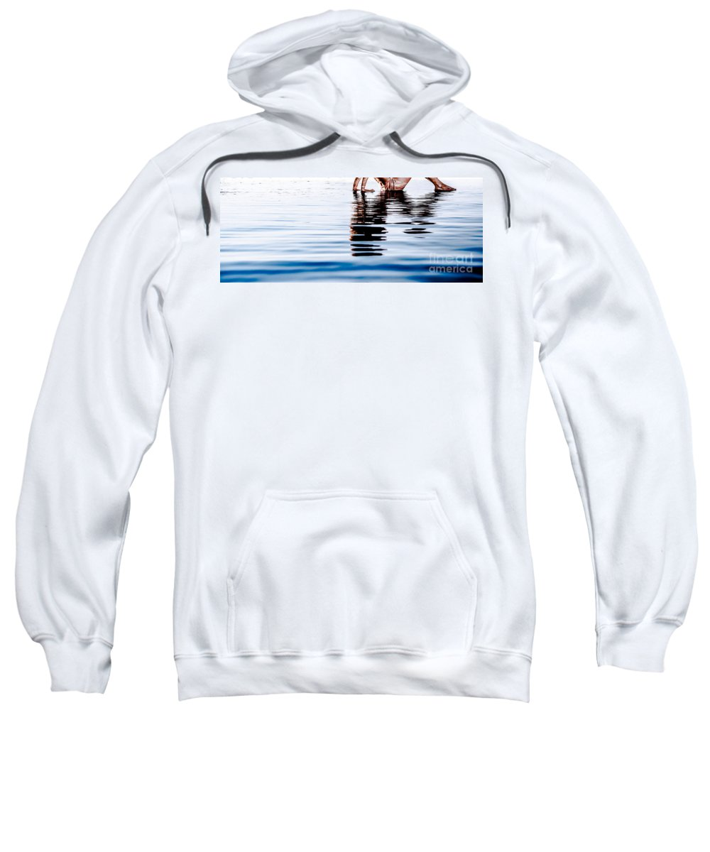 Beautiful Sweatshirt featuring the photograph Rippled Reflection by Jh Photos
