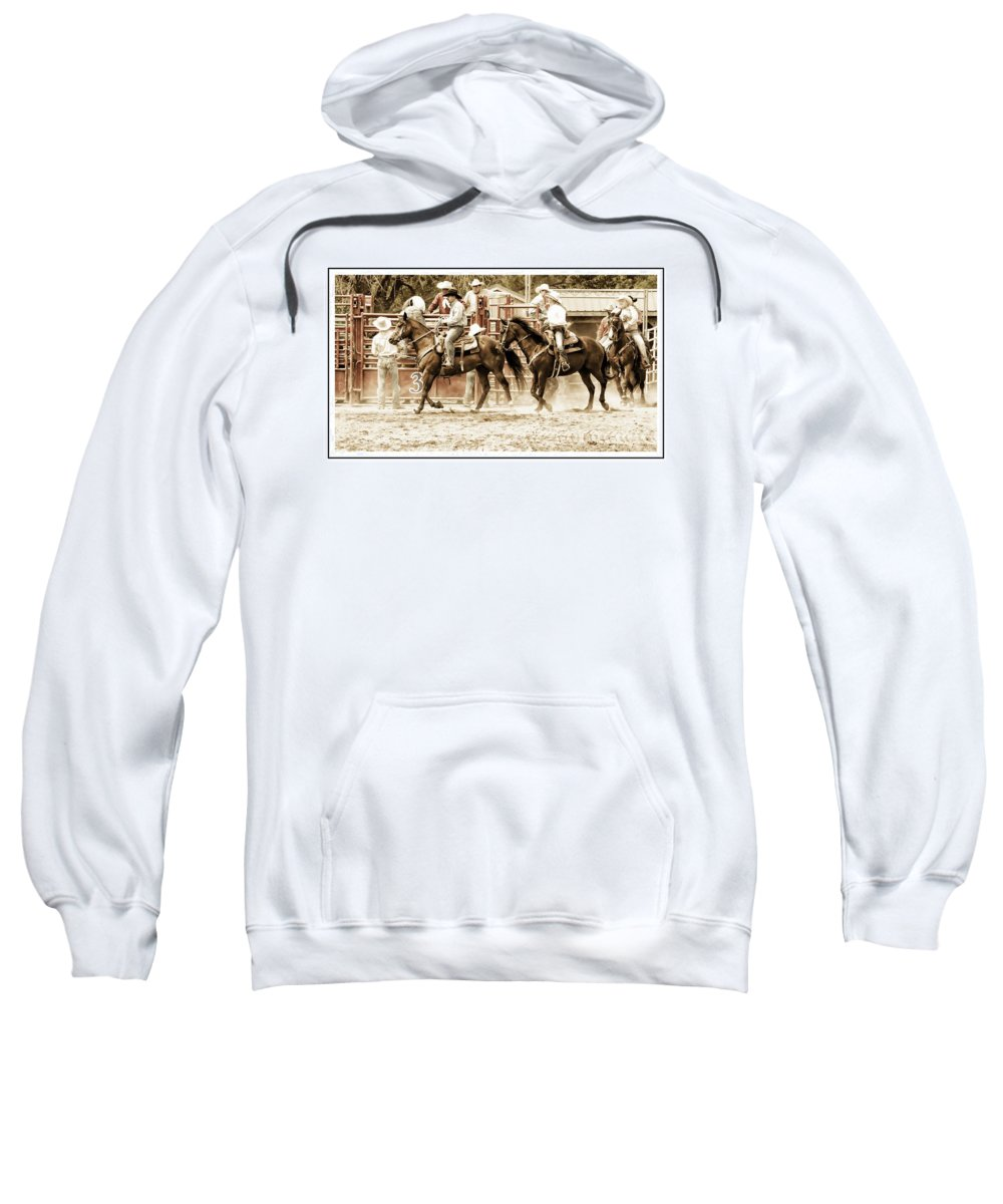 Rodeo Sweatshirt featuring the photograph Rodeo Grandentry by Alice Gipson