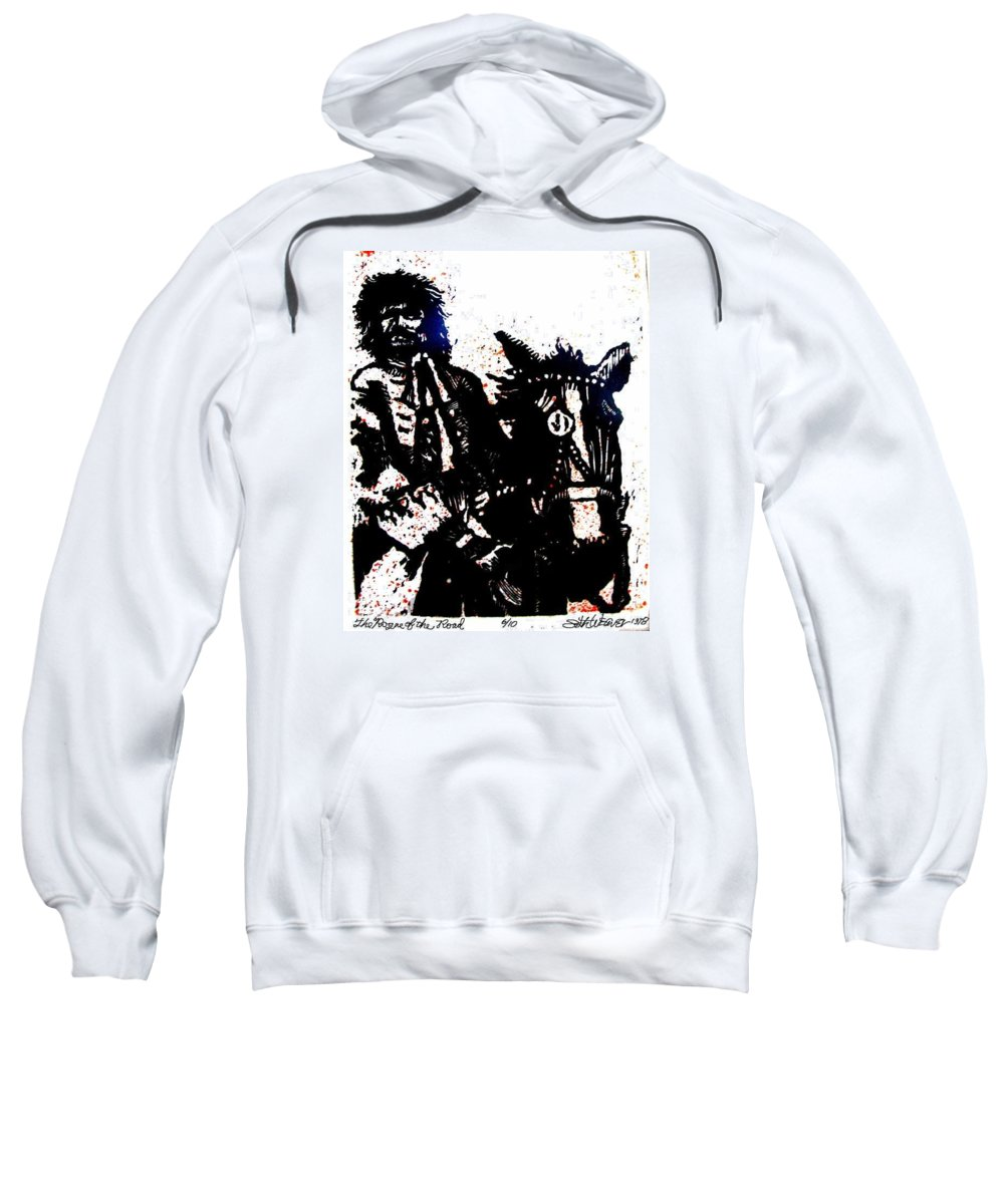 English Highwayman Sweatshirt featuring the mixed media Rogue Of The Road by Seth Weaver