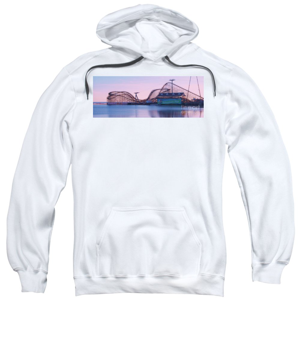 Roller Coaster Sweatshirt featuring the painting Roller Coaster by Eric Schiabor
