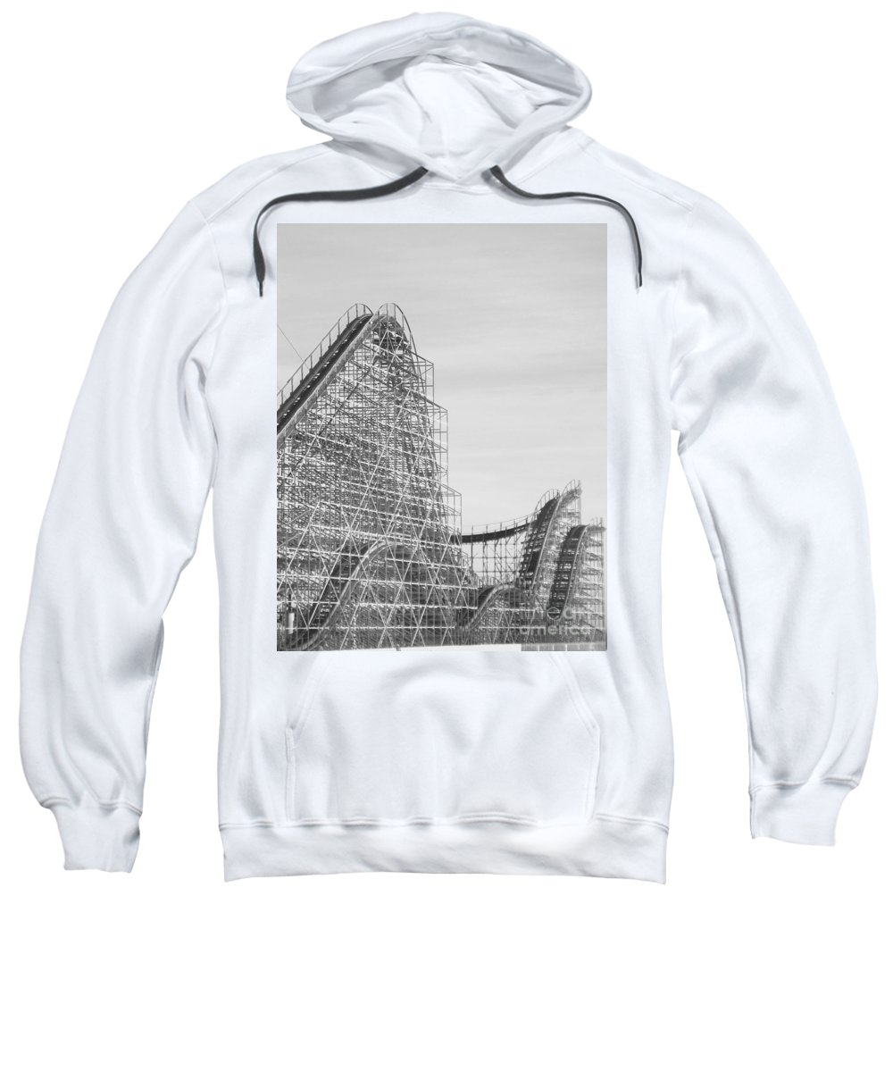 Roller Coaster Sweatshirt featuring the photograph Roller Coaster Wildwood by Eric Schiabor