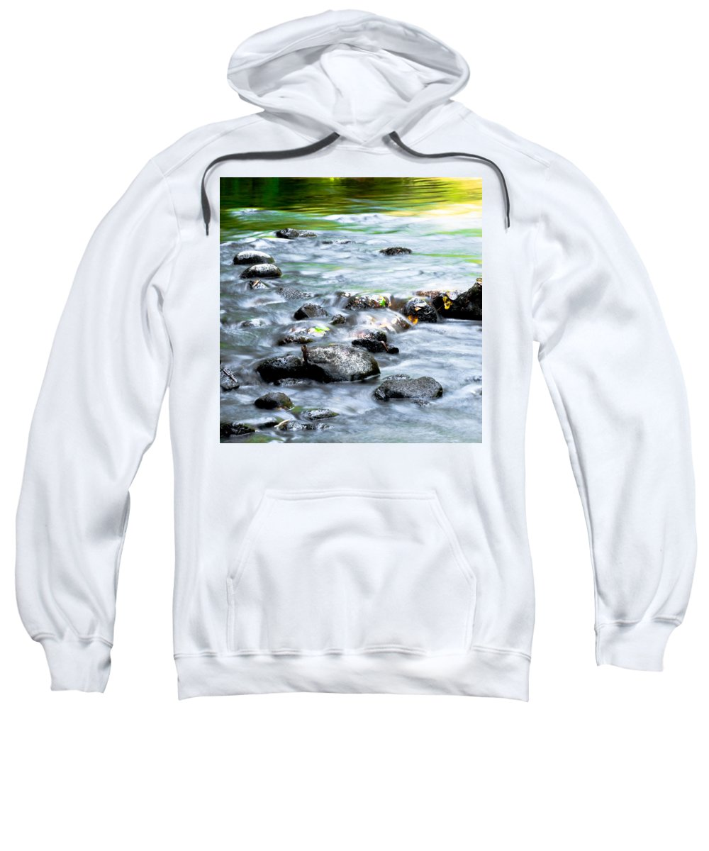 Optical Playground By Mp Ray Sweatshirt featuring the photograph Rolling Brook by Optical Playground By MP Ray