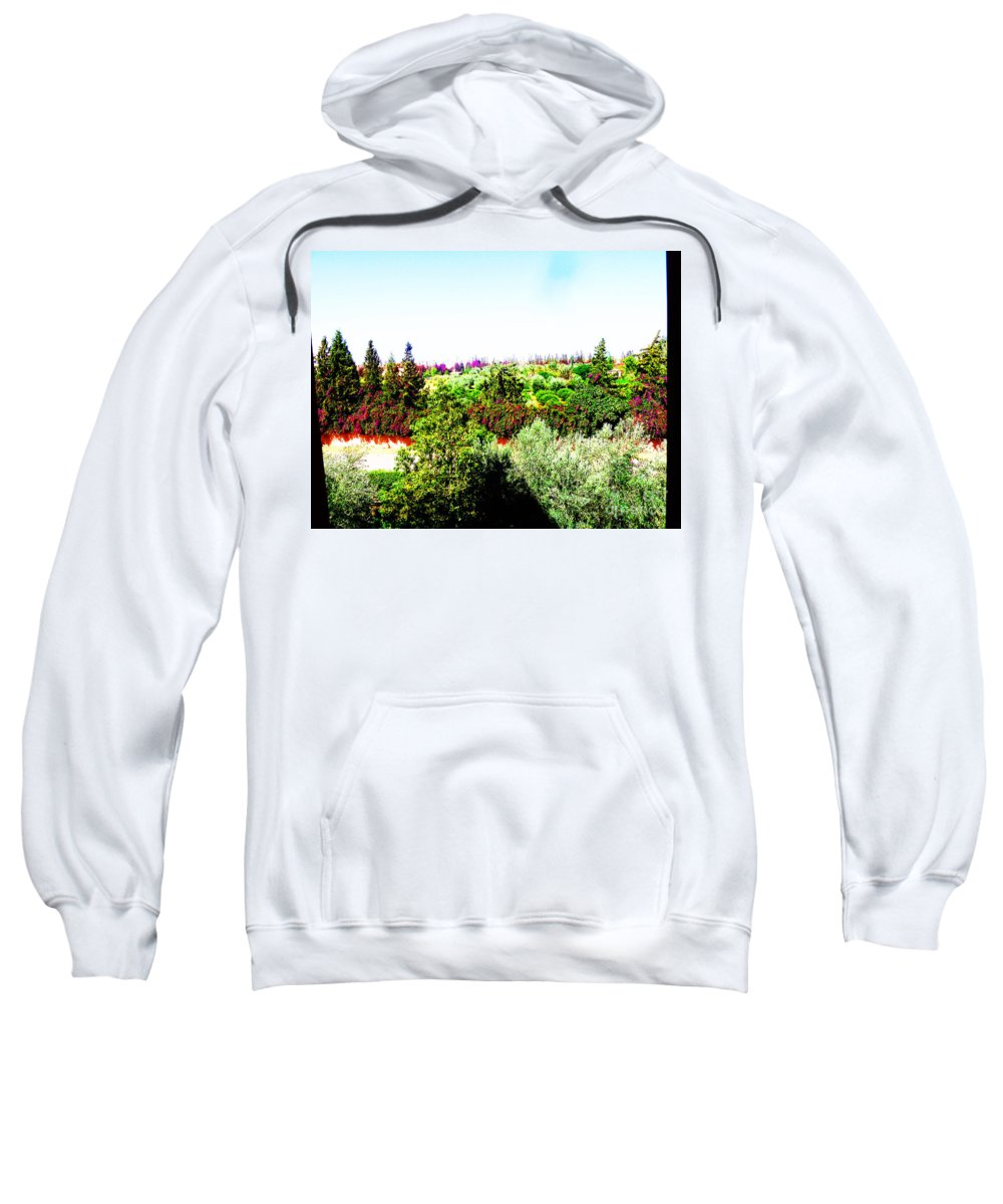 Garden Sweatshirt featuring the photograph Room With A View by Kusum Vij