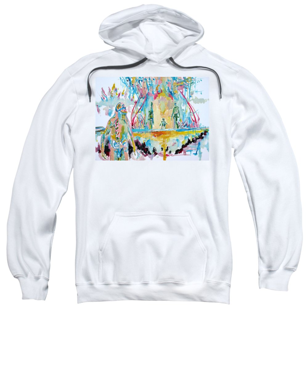 Monster Sweatshirt featuring the painting Rotten Friends-we Love Them All by Fabrizio Cassetta