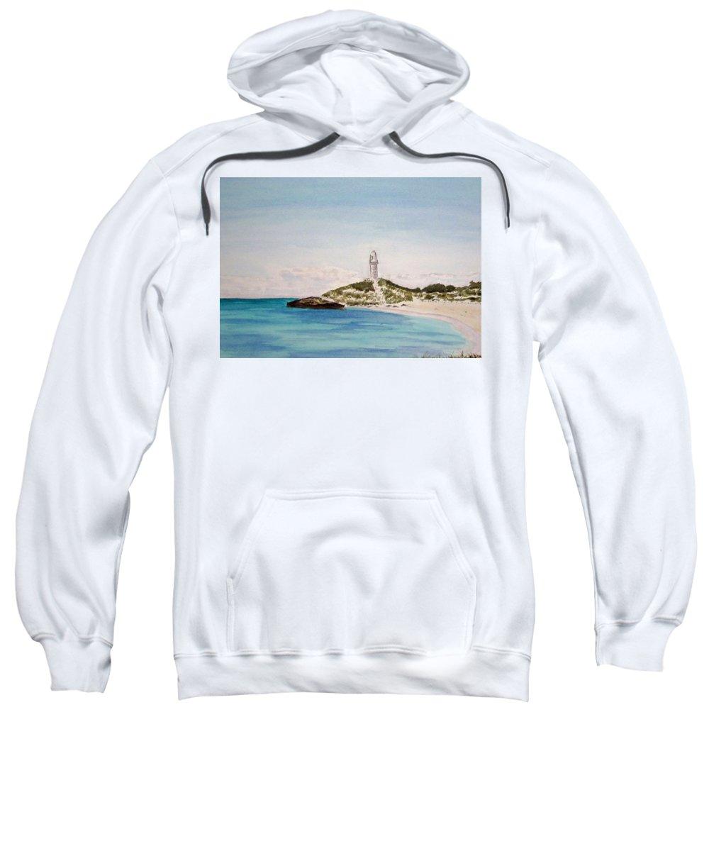 Seascape Sweatshirt featuring the painting Rottnest Island Australia by Elvira Ingram