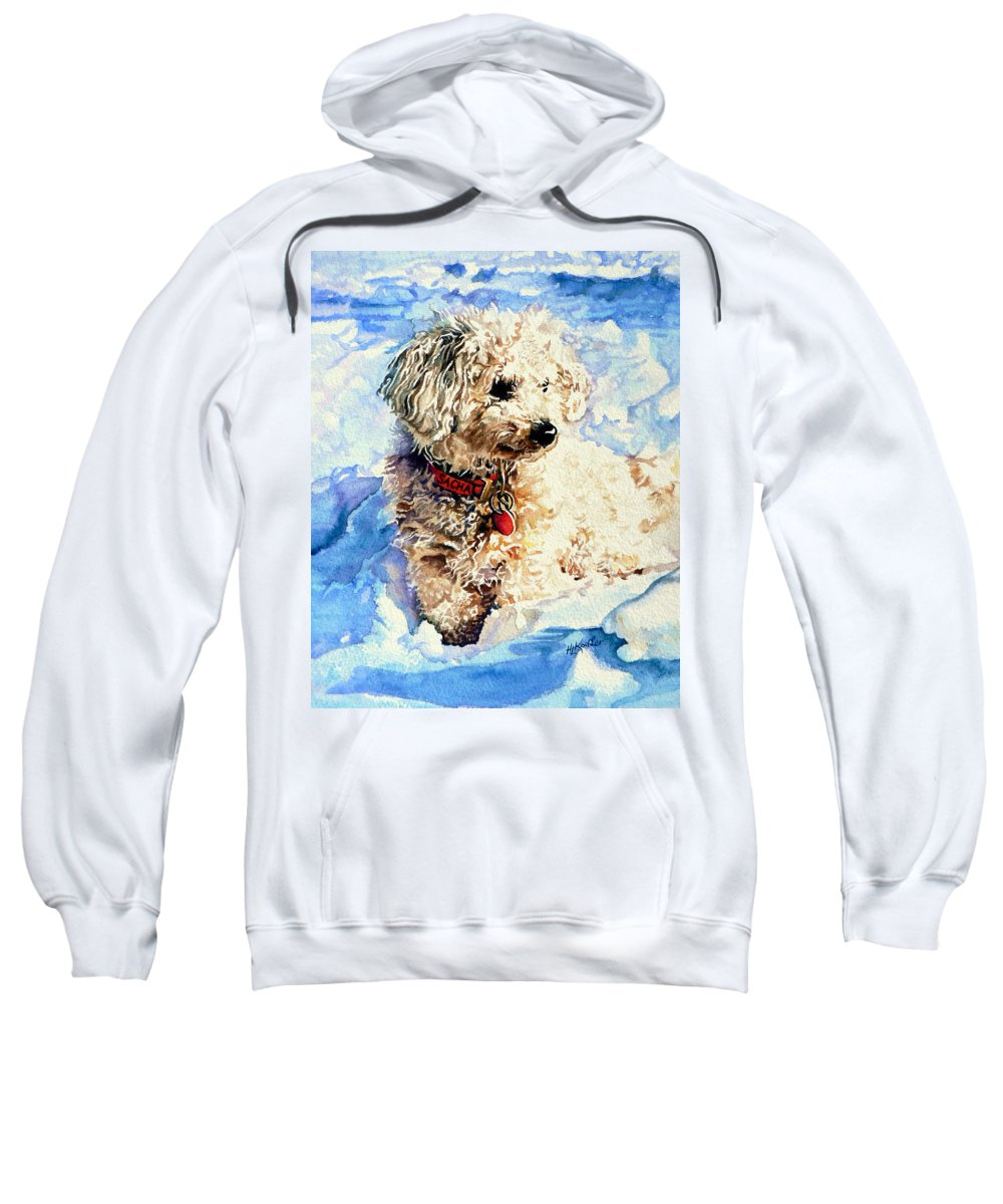 Dog Portrait Sweatshirt featuring the painting Sacha by Hanne Lore Koehler