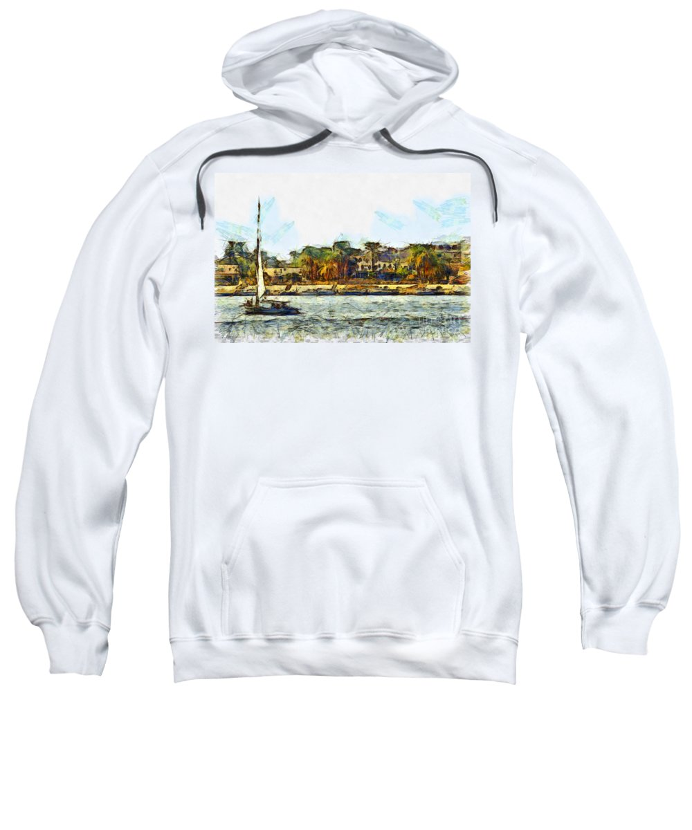 Nile Sweatshirt featuring the photograph Sailing On The Nile by Sophie McAulay