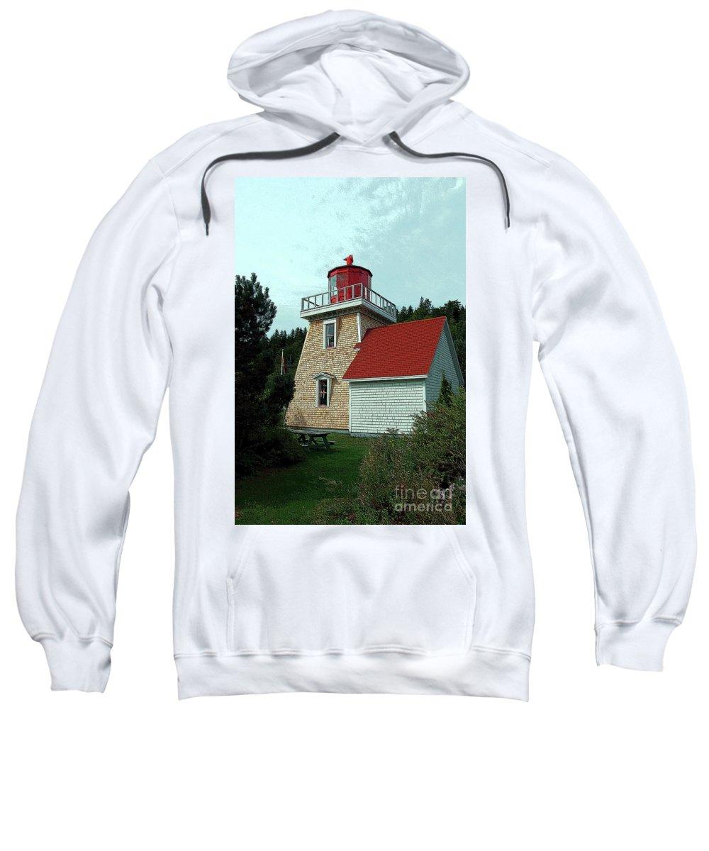 Saint Martin's Sweatshirt featuring the photograph Saint Martin's Lighthouse 2 by Kathleen Struckle