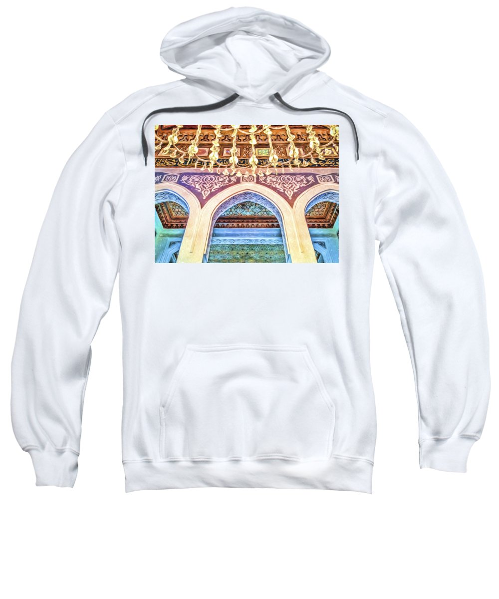 Africa Sweatshirt featuring the photograph Salam Mosque by Maria Coulson