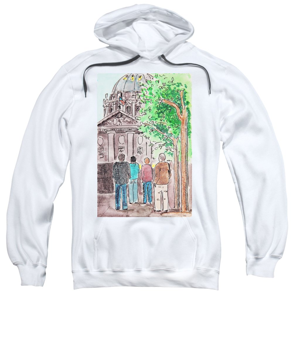 San Francisco Sweatshirt featuring the painting San Francisco City Hall by Masha Batkova