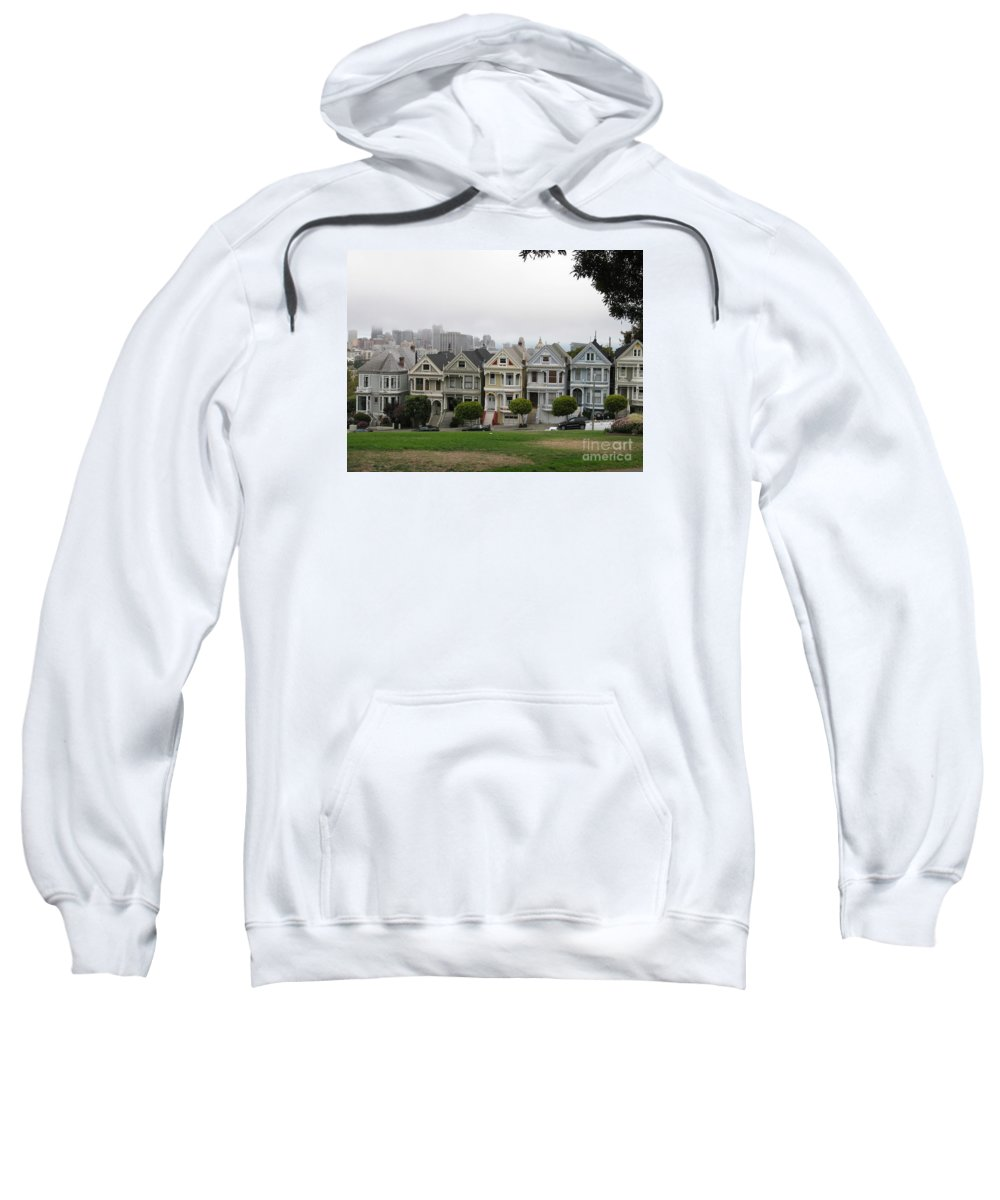 San Francisco Sweatshirt featuring the photograph San Francisco - The Painted Ladies I by Christiane Schulze Art And Photography