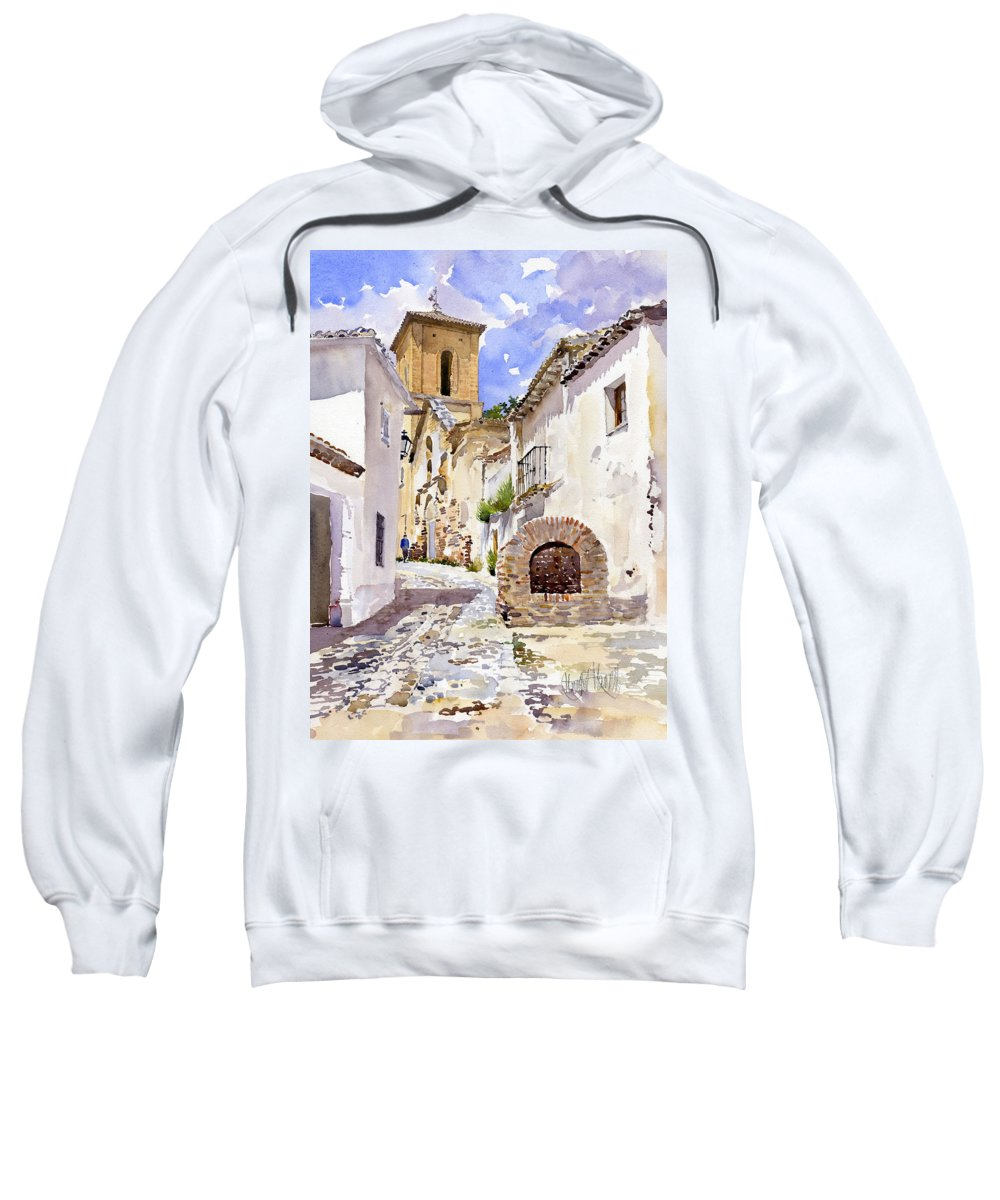Watercolor Sweatshirt featuring the painting San Luis by Margaret Merry