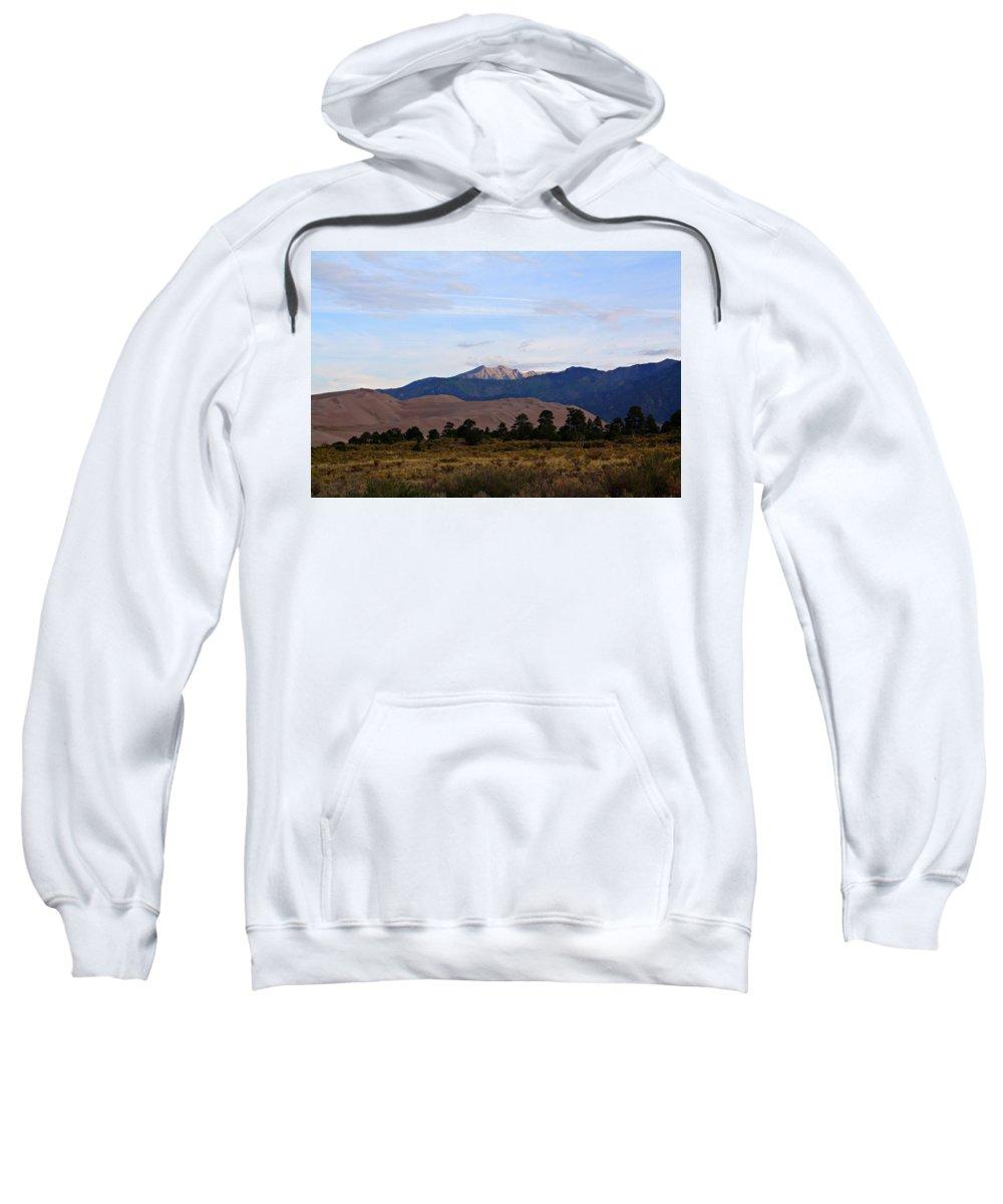 Sand Sweatshirt featuring the photograph Sand Dune Sunrise by Marcelo Albuquerque
