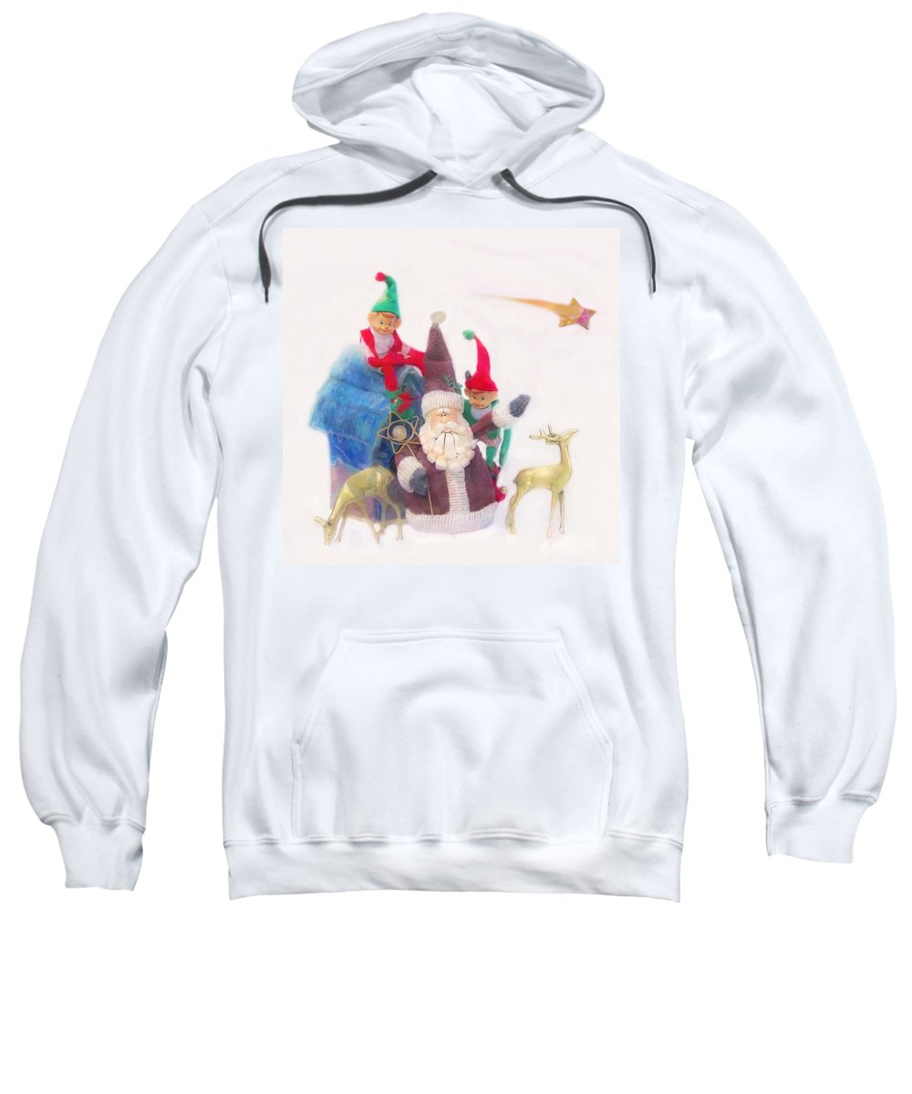 Christmas Sweatshirt featuring the photograph Santa Gets Ready by Hal Halli