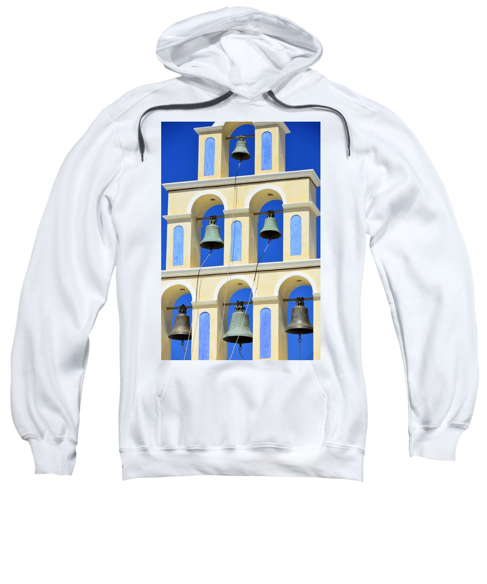 Island Sweatshirt featuring the photograph Santorini Bell Tower 2 by Jack Daulton