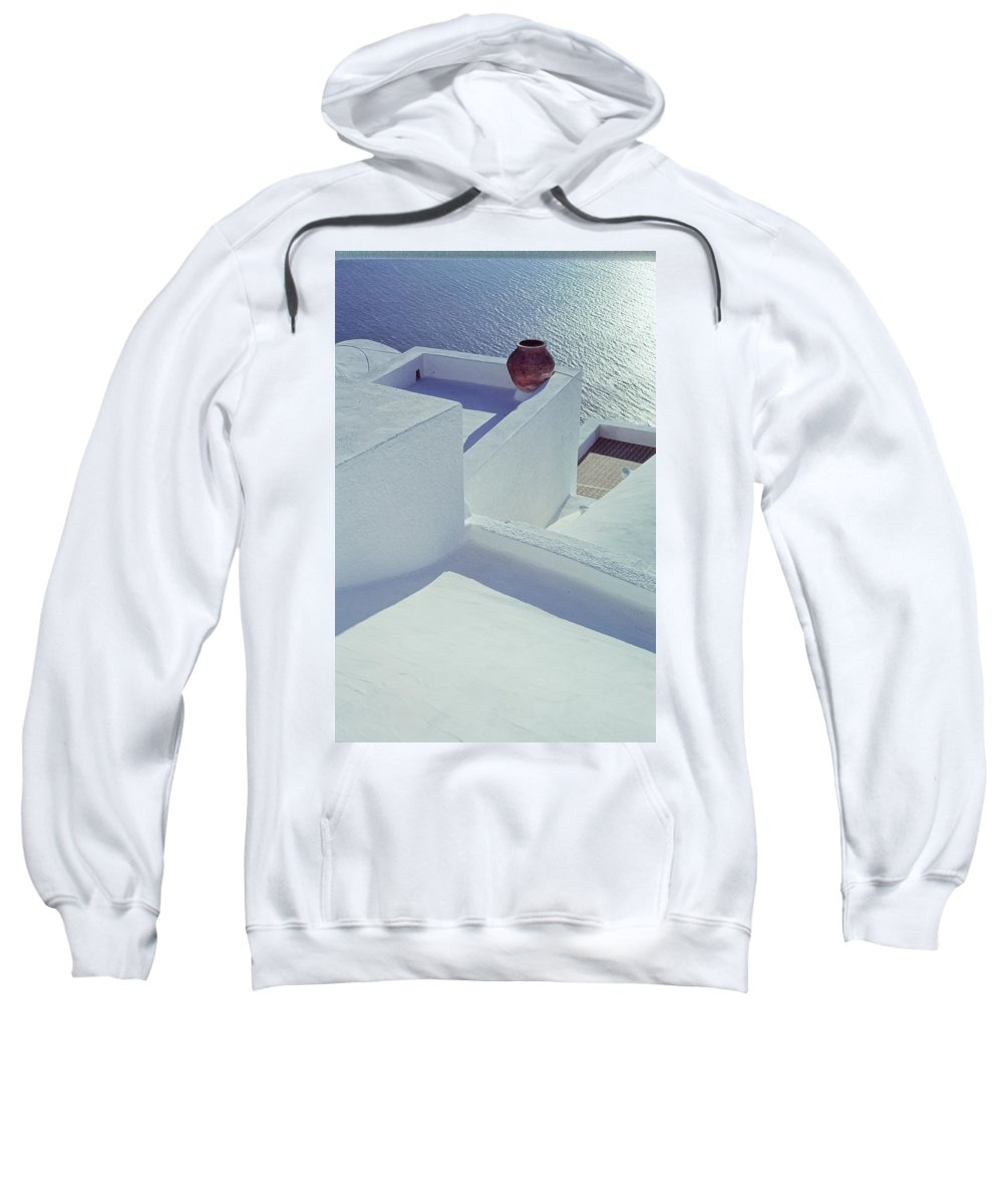 Santorini Sweatshirt featuring the photograph Santorini Greece by Jeff Black