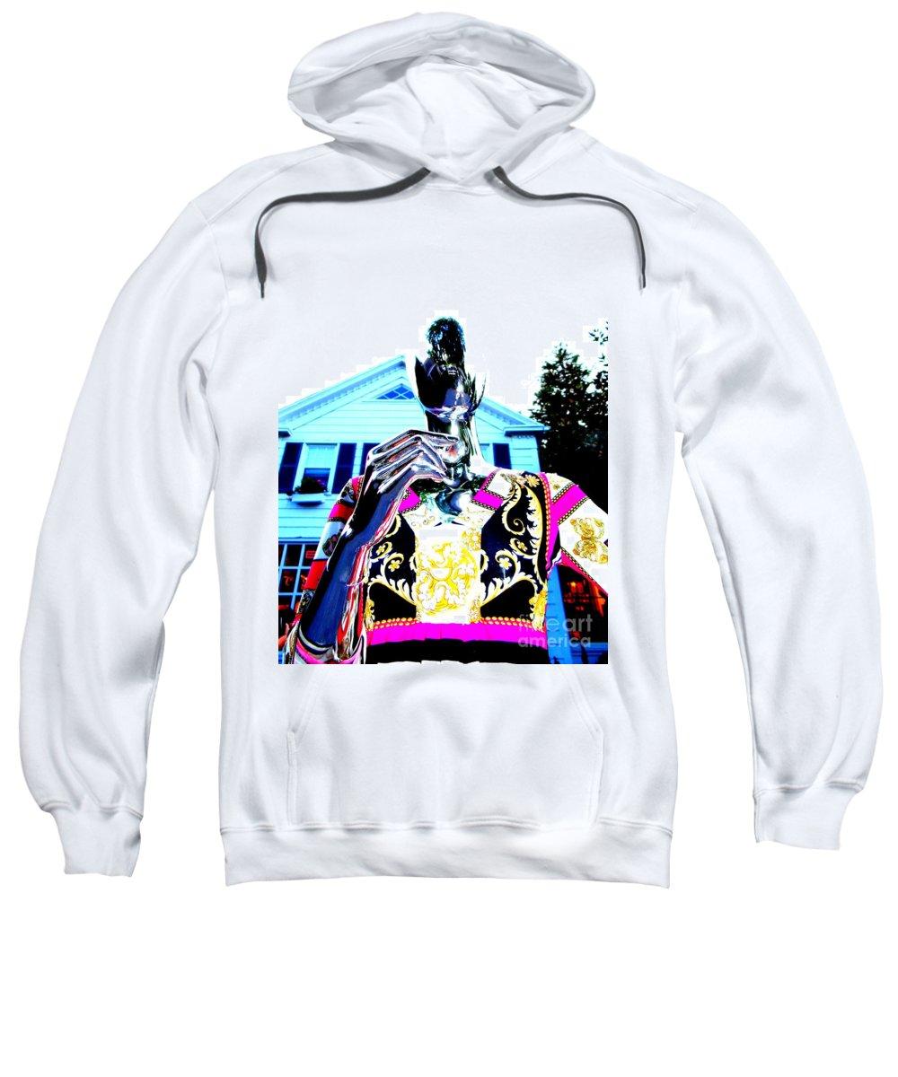 Mannequins Sweatshirt featuring the digital art Saturday Evening by Ed Weidman