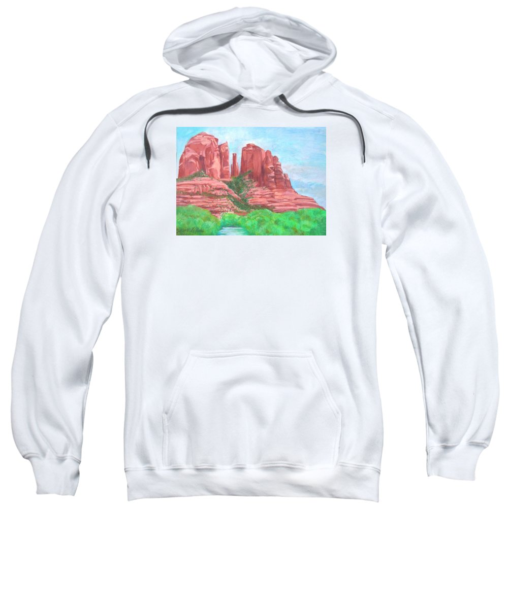 West Sweatshirt featuring the pastel Sedonas by Neal Smith-Willow