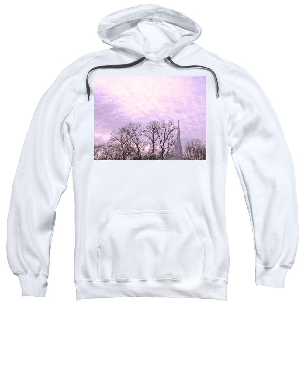 Church Sweatshirt featuring the photograph Serenity by Pamela Hyde Wilson