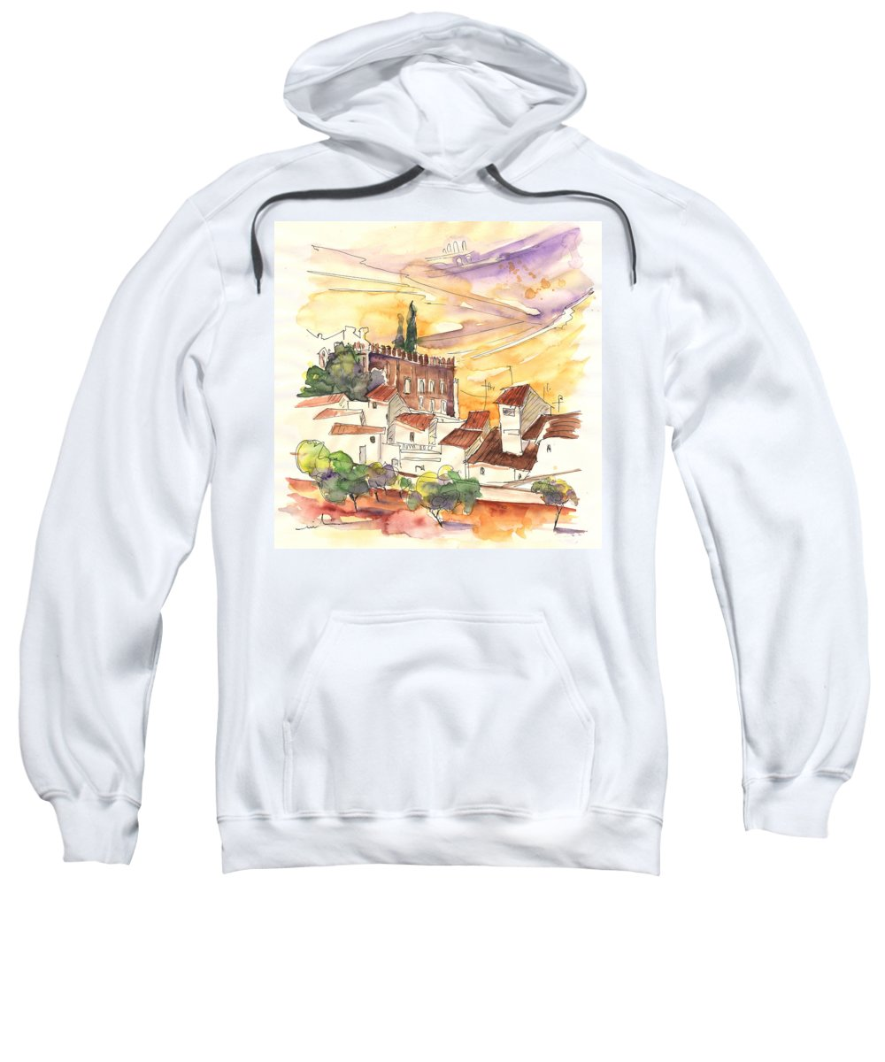 Water Colour Sweatshirt featuring the painting Serpa Portugal 27 by Miki De Goodaboom