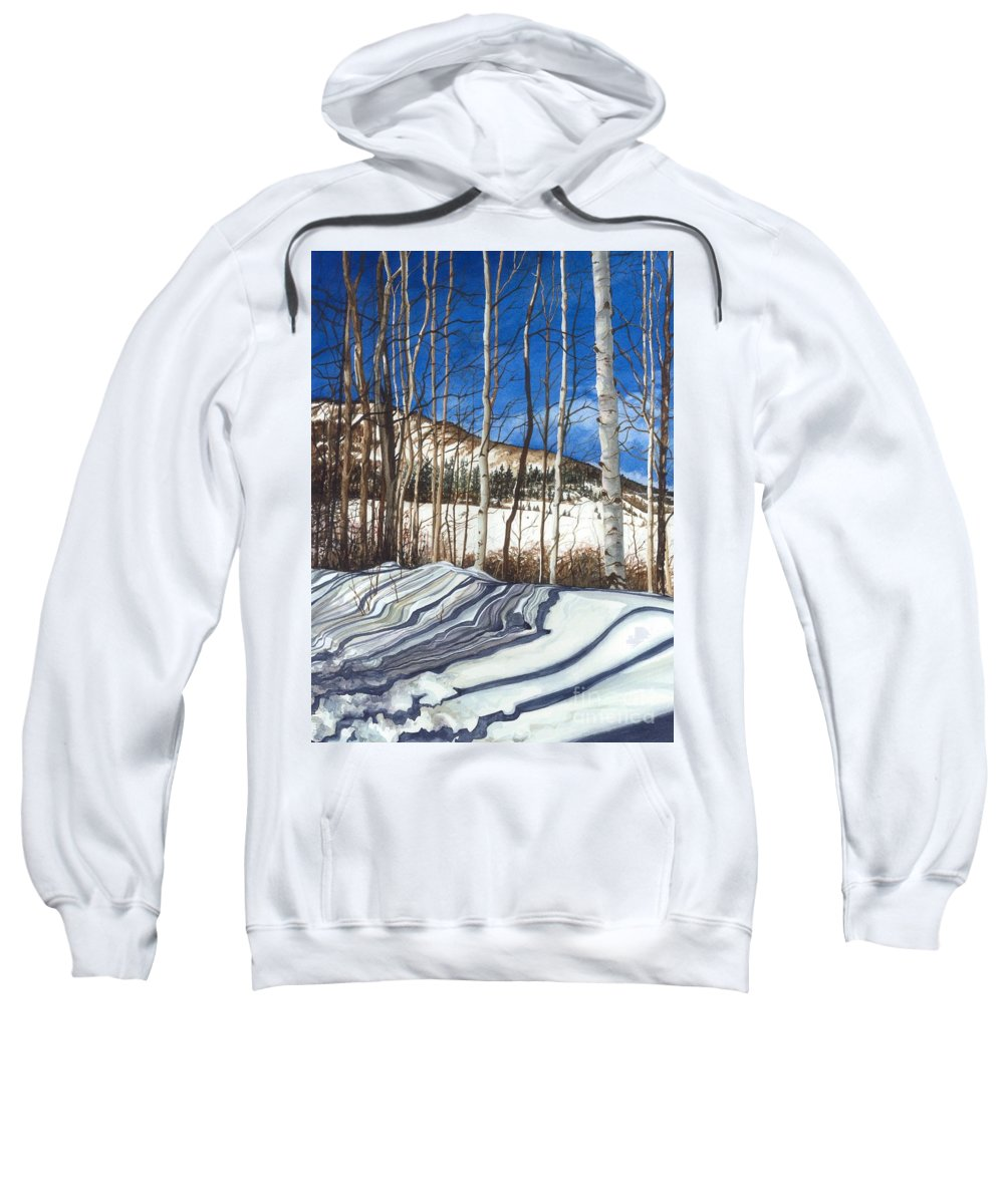 Water Color Paintings Sweatshirt featuring the painting Shadow Dance 1 by Barbara Jewell