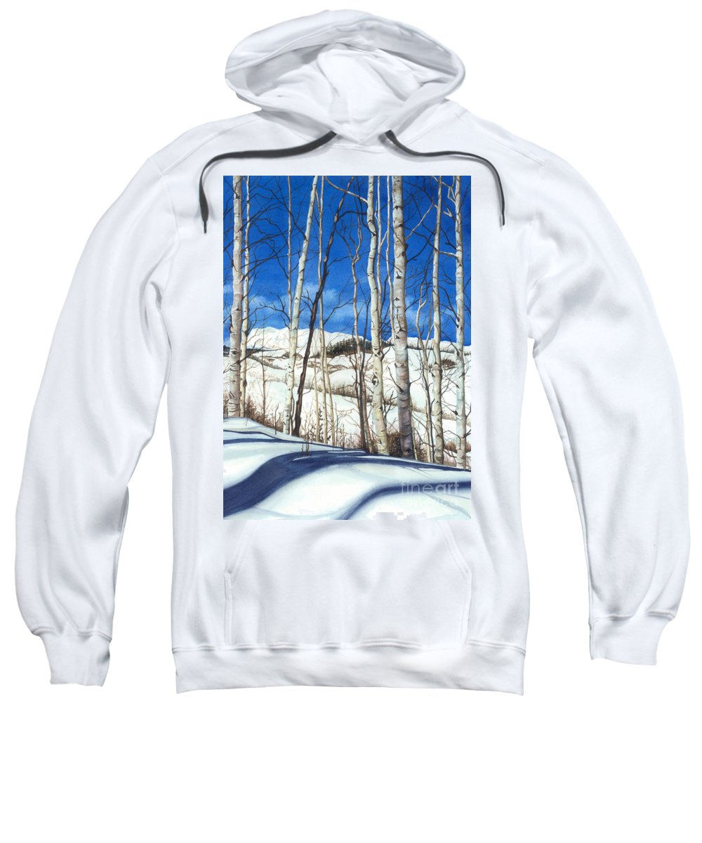 Water Color Paintings Sweatshirt featuring the painting Shadow Dance 2 by Barbara Jewell