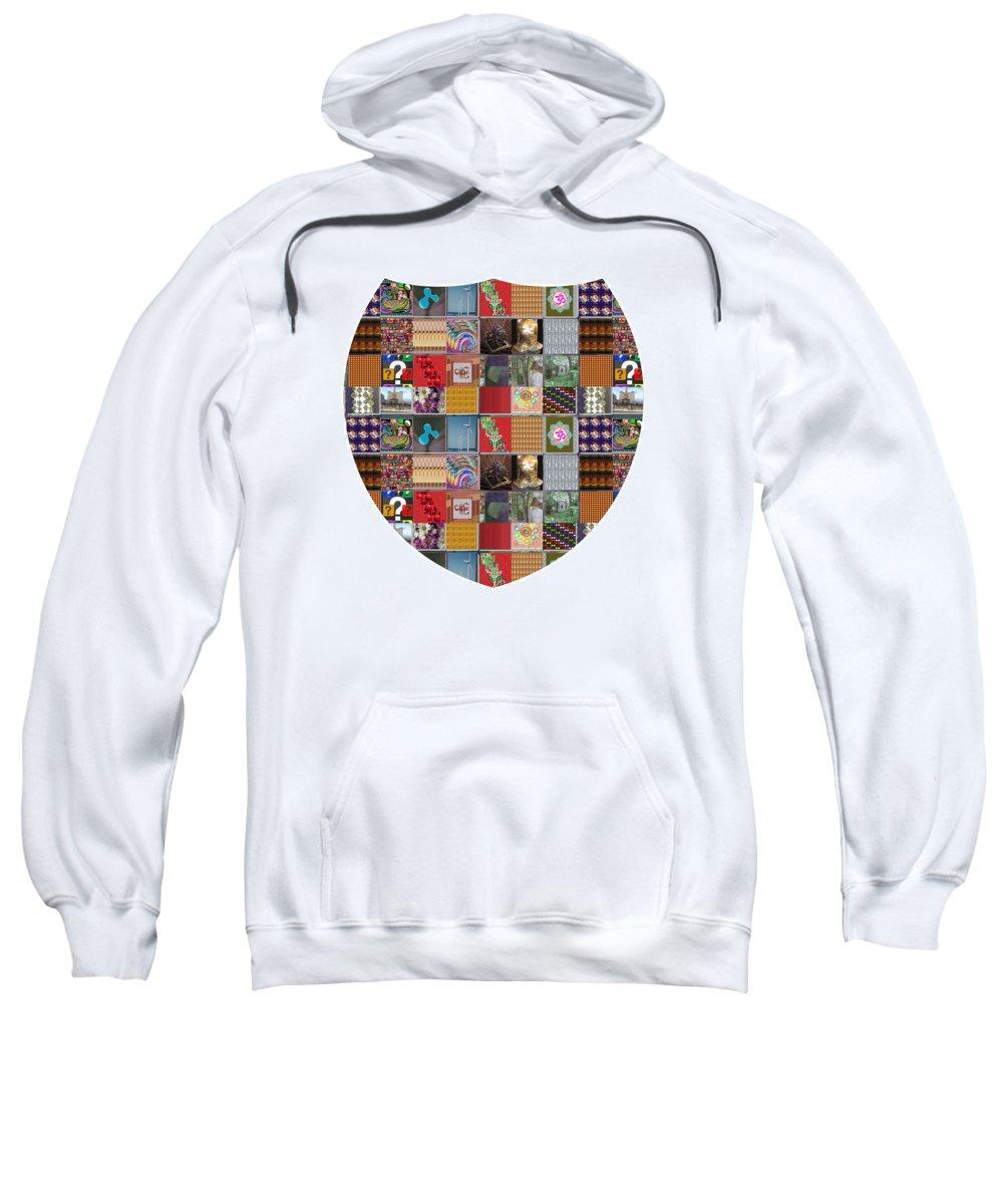 Shield Sweatshirt featuring the painting Shield Armour Yin Yang Showcasing Navinjoshi Gallery Art Icons Buy Faa Products Or Download For Self by Navin Joshi
