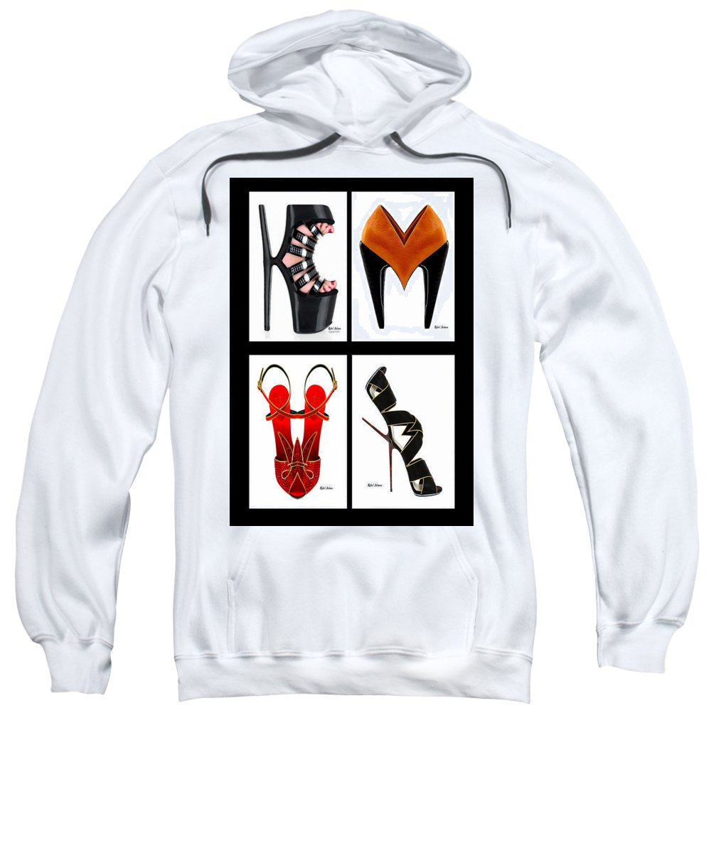 Art Sweatshirt featuring the digital art Shoe Love Quad by Rafael Salazar