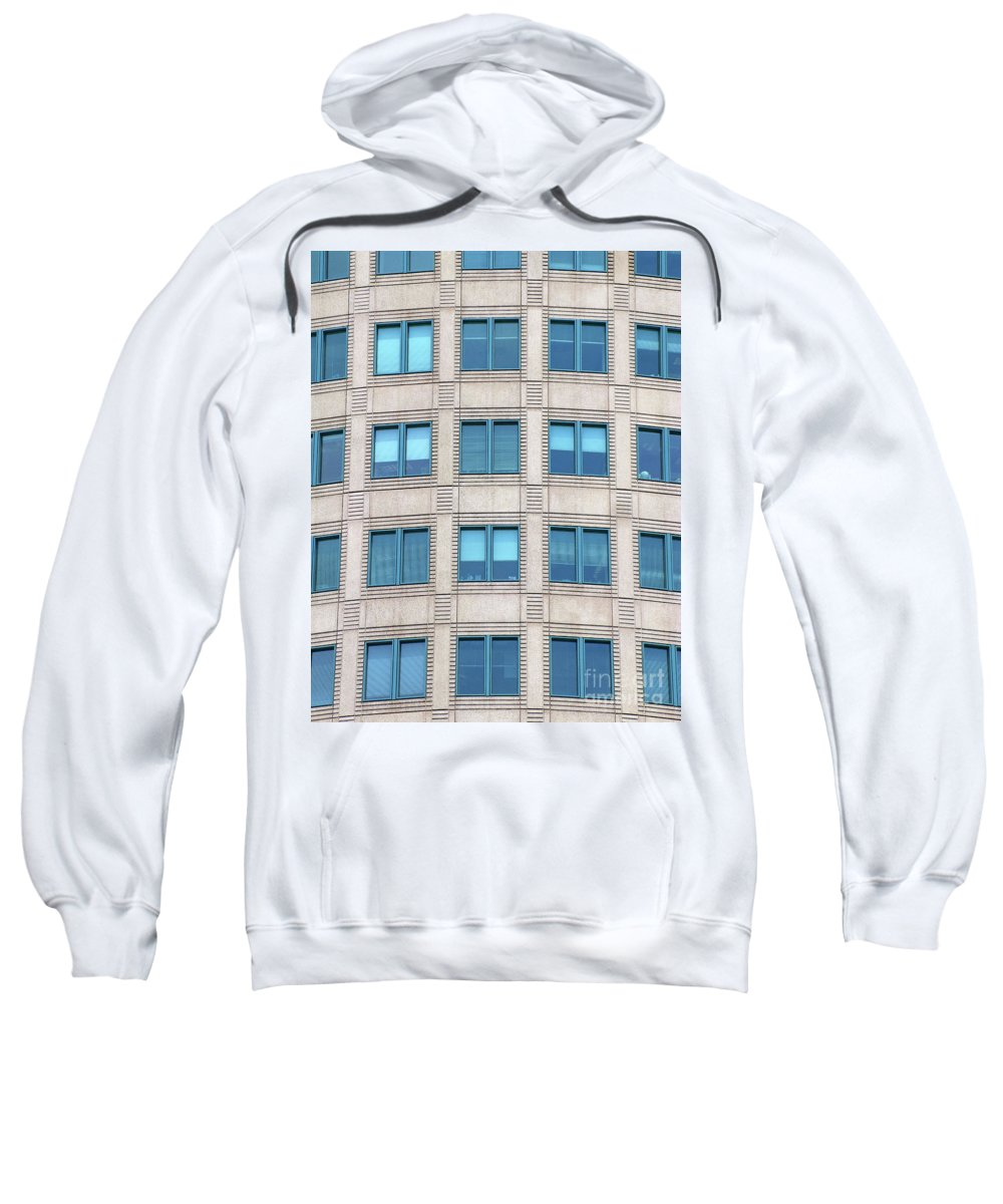 Office Sweatshirt featuring the photograph Shutting Blue Skies Out by Ann Horn