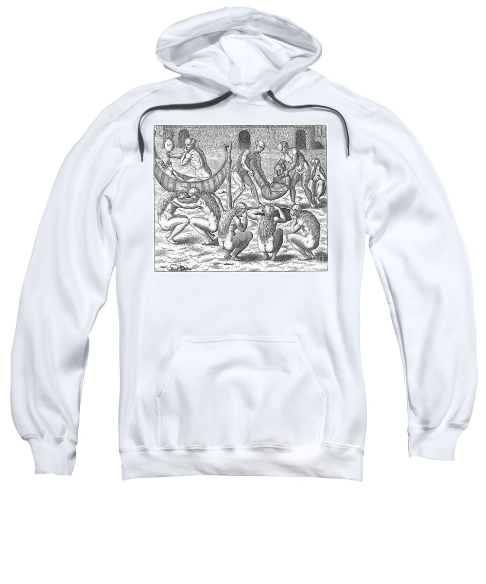 1592 Sweatshirt featuring the photograph Sick Brazilian Natives by Granger
