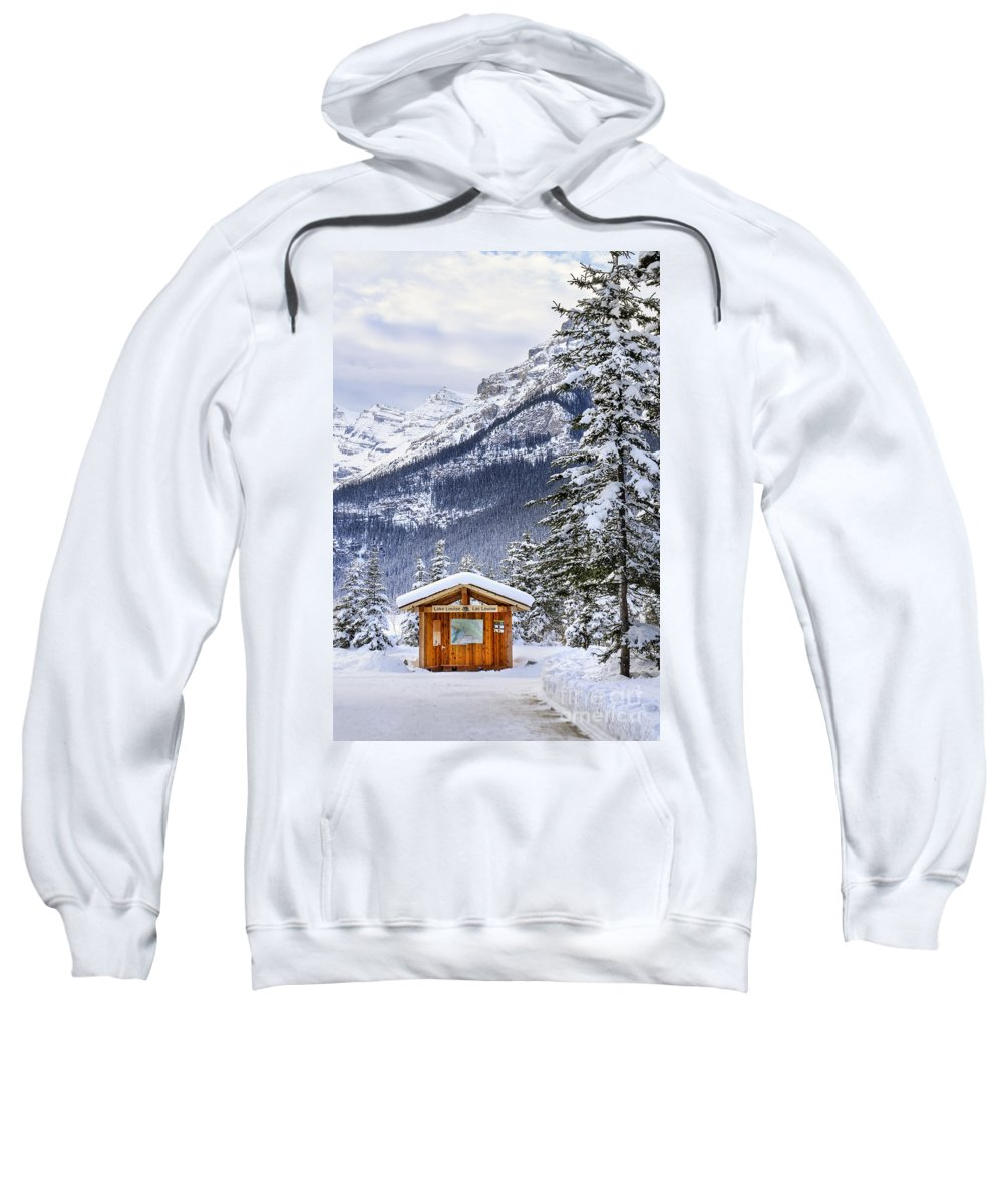 Lake Louise Sweatshirt featuring the photograph Silent Winter by Evelina Kremsdorf