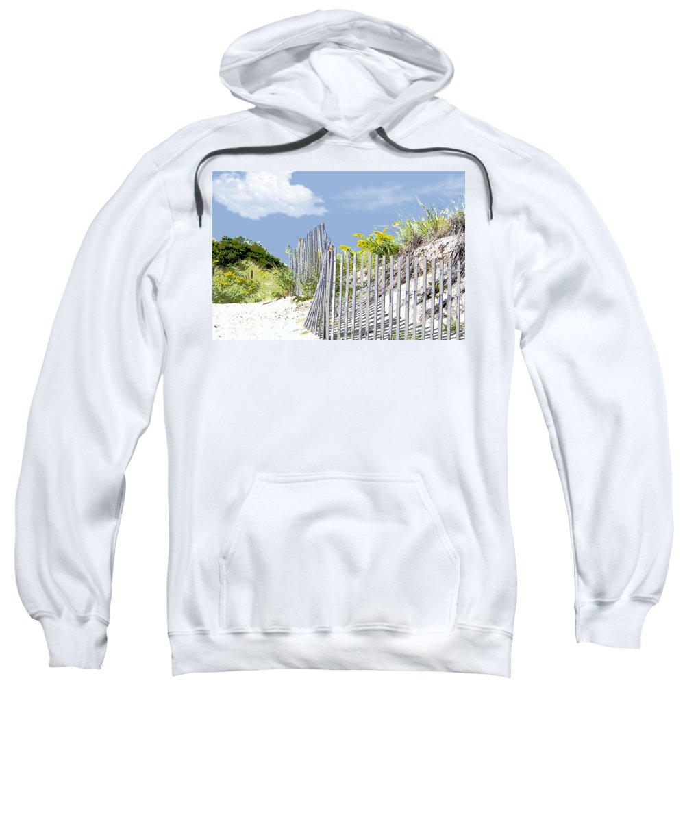 Beach Sweatshirt featuring the painting Simplified View Of Coastal Dune by Elaine Plesser