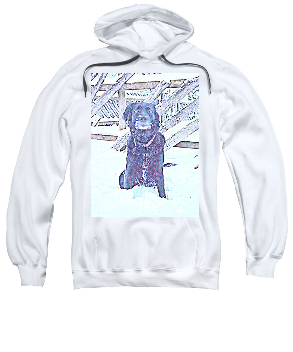 Body Sweatshirt featuring the photograph I'm Sitting By The Old Fence Waiting For You by Hilde Widerberg