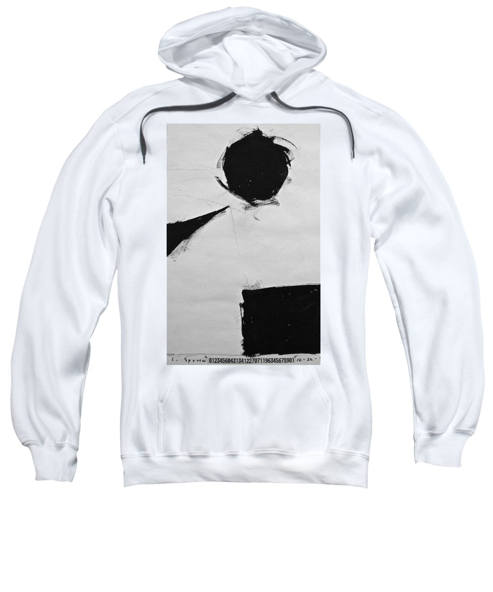 Abstract Paintings Sweatshirt featuring the drawing Sketchbook 1 Pg 33 by Cliff Spohn