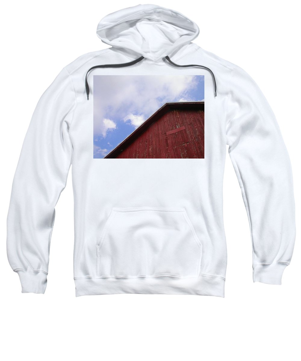 Barn Picture Sweatshirt featuring the photograph Sky And Barn by Cynthia Wallentine