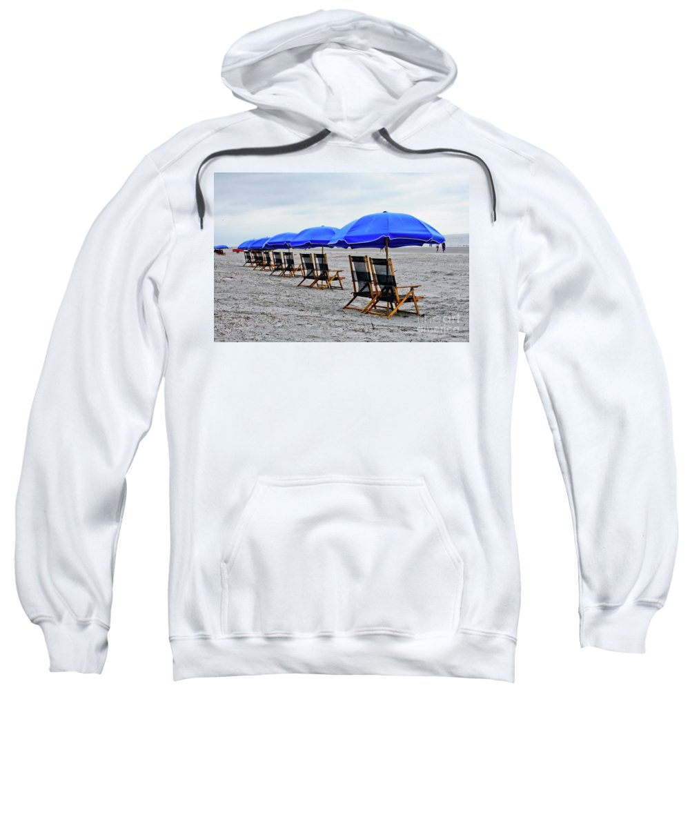Beach Sweatshirt featuring the photograph Slow Day At The Beach by Thomas Marchessault