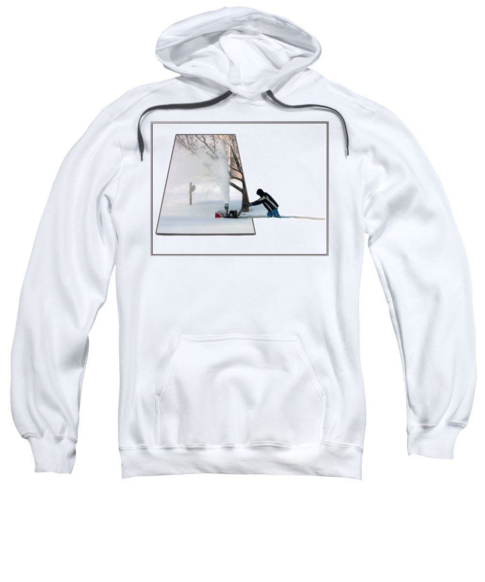 December Sweatshirt featuring the photograph Snow Blower by Thomas Woolworth