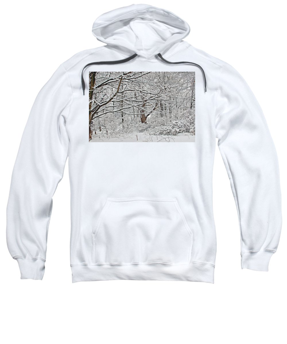 Landscape Sweatshirt featuring the photograph Snow White Forest by Aimee L Maher ALM GALLERY