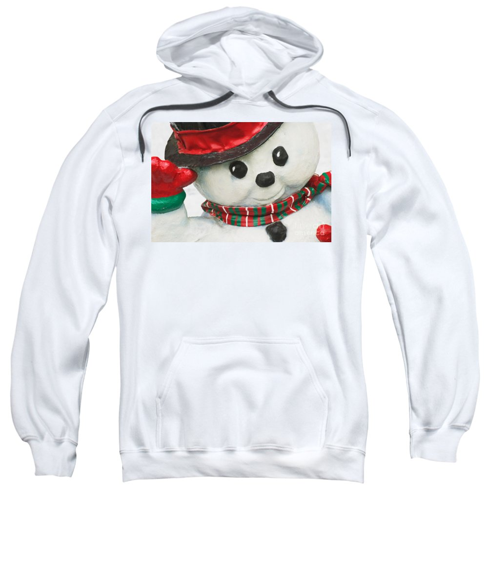 Christmas Sweatshirt featuring the photograph Snowman by David Davis