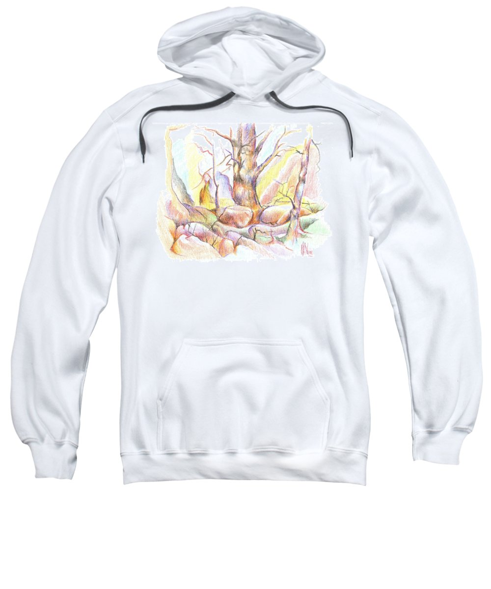 Softly Speaking Sweatshirt featuring the painting Softly Speaking by Kip DeVore